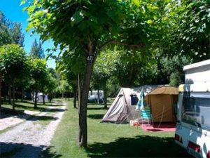 Parcela acampada del Camping